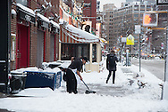 New York, west village,  under the snow