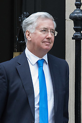 Downing Street, London, February 23rd 2016. Defence Secretary Michael Fallon leaves the weekly cabinet meeting.  ©Paul Davey<br /> FOR LICENCING CONTACT: Paul Davey +44 (0) 7966 016 296 paul@pauldaveycreative.co.uk