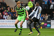 Forest Green Rovers Mark Roberts(21) and Notts County Jonathan Forte(14) during the EFL Sky Bet League 2 match between Notts County and Forest Green Rovers at Meadow Lane, Nottingham, England on 7 October 2017. Photo by Shane Healey.