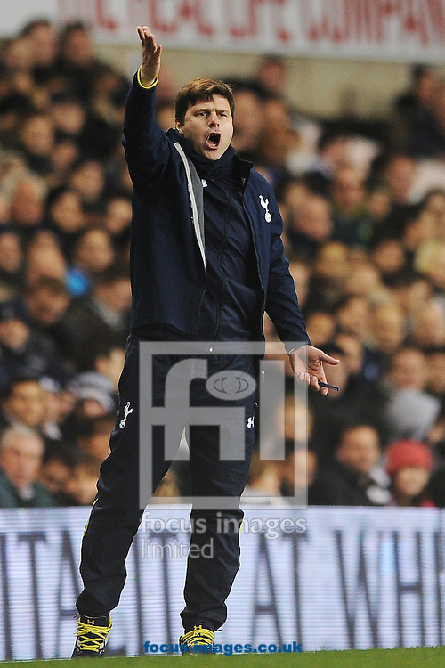 Tottenham Hotspur Manager Mauricio Pochettino during the Barclays Premier League match between Tottenham Hotspur and Chelsea  at White Hart Lane, London<br /> Picture by Richard Blaxall/Focus Images Ltd +44 7853 364624<br /> 01/01/2015