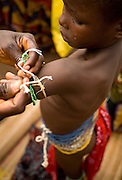 Young girls from the Krobo tribal group undergo puberty rites - locally called dipo - in Somanya, Eastern Region, Ghana.