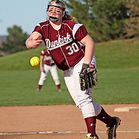 Dunkirk's Monica Pokoj on the mound against Southwestern during the top of the fourth inning photo by Mark L Anderson