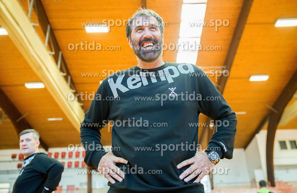 Veselin Vujovic, head coach during practice session of Slovenian National Handball Men team at training camp before EHF European Championship Poland 2016, on December 23, 2015 in Slovenske Konjice, Slovenia. Photo by Vid Ponikvar / Sportida