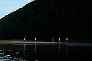 A group of children, cousins, walk along the Susquehanna River near the spot where Joseph Smith and Oliver Cowdery were baptized, in Susquehanna, PA, Thursday, July 21, 2016. The baptismal site is part of The Church of Jesus Christ of Latter Day Saints Priesthood Restoration Site. The site, which was errected and opened in 2015 and has seen 25,000 visitors to date, and is where Joseph Smith translated the Book of Mormon.