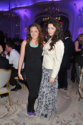 Left to right, NATASHA CORRETT and SHIRLEY LEIGH-WOODS OAKES at the Quintessentially Foundation poker evening at The Savoy Hotel, London on 30th October 2012.
