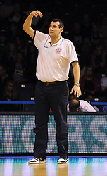 Bristol Flyers head coach, Andreas Kapoulas - Photo mandatory by-line: Dougie Allward/JMP - Mobile: 07966 386802 - 31/10/2014 - SPORT - Football - Worcester - Worcester Arena - Worcester Wolves v Bristol Flyers - British Basketball League Cup