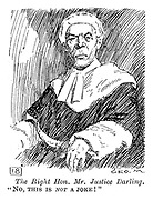 "Royal Academy - First Depressions. The Right Hon. Mr. Justice Darling. ""No, this is not a joke!"""