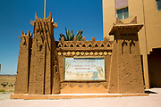 ZAGORA, MOROCCO - 25th April 2014 - 52 days to Tombouctou sign, Zagora, Southern Morocco.