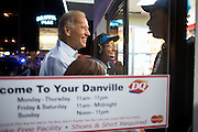 Vice President Joe Biden greets Dairy Queen employees at the front door before getting an ice cream cone, in Danville, Virginia, August 13, 2012. (Official White House Photo by David Lienemann)