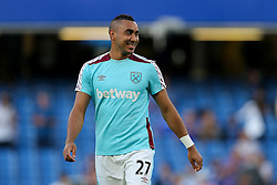 Dimitri Payet of West Ham United looks on - Rogan Thomson/JMP - 15/08/2016 - FOOTBALL - Stamford Bridge Stadium - London, England - Chelsea v West Ham United - Premier League Opening Weekend.