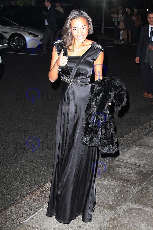 LONDON - SEPTEMBER 20: Amal Fashanu attended 'Fashion For The Brave' at The Dorchester Hotel, Park Lane, London, UK. September 20, 2012. (Photo by Richard Goldschmidt)