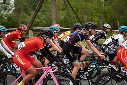 Ella Harris (NZL) in the bunch at GREE Tour of Guangxi Women's WorldTour 2019 a 145.8 km road race in Guilin, China on October 22, 2019. Photo by Sean Robinson/velofocus.com