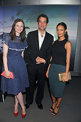 Left to right, SOPHIE ELLIS-BEXTOR, CLIVE OWEN and THANDIE NEWTON at the Global Launch of Audi's first Digital Showroom, 74-75 Piccadilly, London on 16th July 2012.