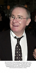 MR JOHN REID former manager of Sir Elton John, at a party in London on 11th December 2000.OKC 4 mico