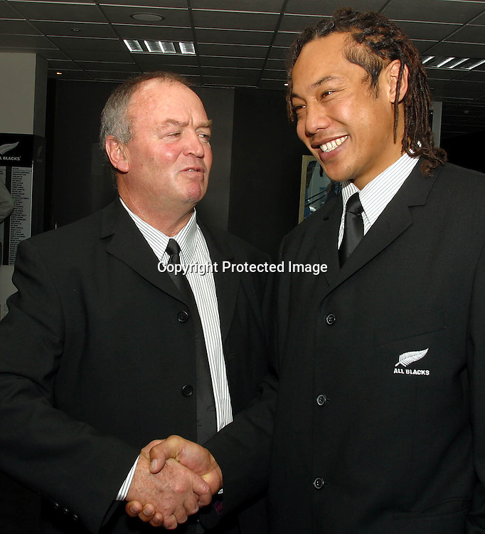 Coach 3 New boss and new captain. Coach Henry welcomes Tana Umaga aboard as new AB skipper. bush pic