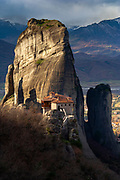 Greek orthdox monastery builded on the top of a rock