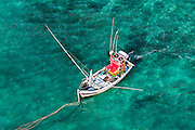 The Island from Above. Fishing boat at Weligama.