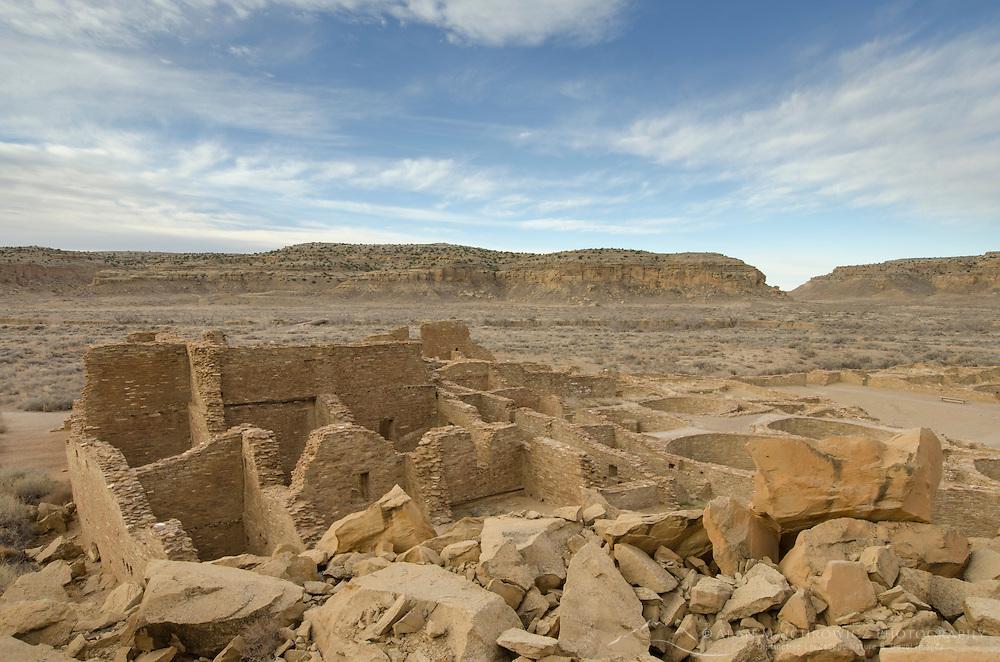 Pueblo Bonito ruins, Chaco Culture National Historical Park