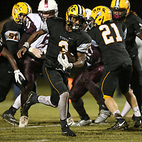 Ripley quarterback Trey Blanchard makes a carry during Friday night's game against New Albany.