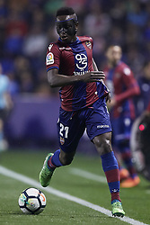 April 27, 2018 - Valencia, Valencia, Spain - Boateng of Levante UD with the ball during the La Liga game between Levante UD and Sevilla FC at Ciutat de Valencia on April 27, 2018 in Valencia, Spain  (Credit Image: © David Aliaga/NurPhoto via ZUMA Press)
