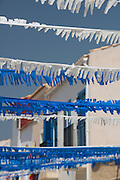 Houses at Tabarca Island, Alicante province,<br /> Costa Blanca, Spain