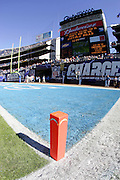 SAN DIEGO - NOVEMBER 20:  The San Diego Chargers end zone is decorated and ready for the Chargers game against the Buffalo Bills on November 20, 2005 at Qualcomm Stadium in San Diego, California. The Chargers defeated the Bills 48-10. ©Paul Anthony Spinelli