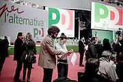 ROMA. DELEGATI DURANTE L'ASSEMBLEA NAZIONALE DEL PARTITO DEMOCRATICO