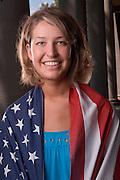 18928Janelle Huelsman: Env. Portrait with American flag