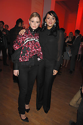 Left to right, actress EMILIA FOX and actress MARTINE McCUTCHEON at the Art Plus Drama party Held at the Whitechapel Art Gallery, London E1 on 8th March 2007. <br />