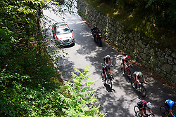 Hannah Barnes (GBR) and Rachel Neylan (AUS) sit at the back of the break during Stage 9 of 2019 Giro Rosa Iccrea, a 125.5 km road race from Gemona to Chiusaforte, Italy on July 13, 2019. Photo by Sean Robinson/velofocus.com