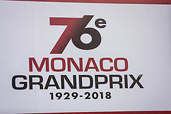 May 23, 2018 - Montecarlo, Monaco - 76e Monaco Grand Prix 1929-2018 official banner during the Monaco Formula One Grand Prix  at Monaco on 23th of May, 2018 in Montecarlo, Monaco. (Credit Image: © Xavier Bonilla/NurPhoto via ZUMA Press)