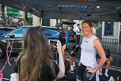 Kirsten Wild (NED) of Wiggle High5 Cycling Team smiles before Stage 2 of the Madrid Challenge - a 100.3 km road race, starting and finishing in Madrid on September 16, 2018, in Spain. (Photo by Balint Hamvas/Velofocus.com)