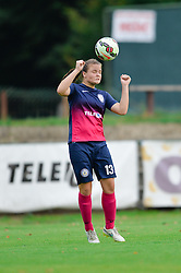 Spela Rozmaric of ZNK Pomurje during the UEFA Women's Champions League Qualifying Match between ZNK Teleing Pomurje (SLO) and Olimpia Cluj (ROU) at Sportni Park on August 16, 2015 in Beltinci, Slovenia. Photo by Mario Horvat / Sportida