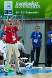 04.09.2013, Arena Bonifka, Koper, SLO, Eurobasket EM 2013, Tuerkei vs Finnland, im Bild Bogdan Tanjevic, head coach of Turkey // during Eurobasket EM 2013 match between Turkey and Finland at Arena Bonifka in Koper, Slowenia on 2013/09/04. EXPA Pictures © 2013, PhotoCredit: EXPA/ Sportida/ Matic Klansek Velej<br /> <br /> ***** ATTENTION - OUT OF SLO *****