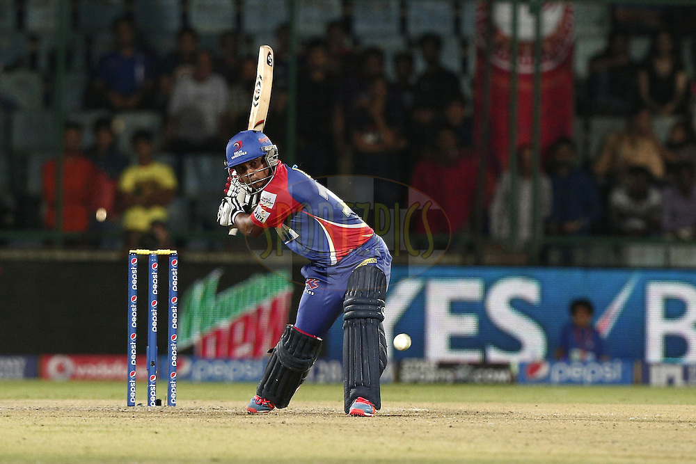 Kedar Jadhav of the Delhi Daredevils during match 26 of the Pepsi Indian Premier League Season 2014 between the Delhi Daredevils and the Chennai Superkings held at the Ferozeshah Kotla cricket stadium, Delhi, India on the 5th May  2014<br /> <br /> Photo by Deepak Malik / IPL / SPORTZPICS<br /> <br /> <br /> <br /> Image use subject to terms and conditions which can be found here:  http://sportzpics.photoshelter.com/gallery/Pepsi-IPL-Image-terms-and-conditions/G00004VW1IVJ.gB0/C0000TScjhBM6ikg