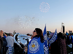 Leicester City fans watch a fireworks display in a celebration of winning the Premier League - Mandatory by-line: Robbie Stephenson/JMP - 16/05/2016 - FOOTBALL - Leicester City FC, Barclays Premier League Winners 2016 - Leicester City Victory Parade