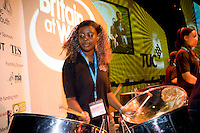 Haringey Young Musicians Steel Orchestra playing at the TUC 2006....