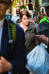 Jenny McDonagh, a Kensington and Chelsea council finance manager, 39, leaves Westminster Magistrates Court after pleading guilty to stealing £62,000 from funds set aside for Grenfell Tower fire disaster survivors. London August 30 2018.