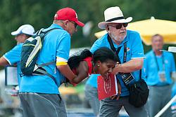 Behind the scenes, CASTILLO Yunidis, CUB, 400m, T46, 2013 IPC Athletics World Championships, Lyon, France