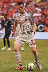 July 28, 2018 - Ann Arbor, MI, U.S. - ANN ARBOR, MI - JULY 28: Liverpool Defender Andy Robertson (26) in action during the ICC soccer match between Manchester United FC and Liverpool FC on July 28, 2018 at Michigan Stadium in Ann Arbor, MI (Photo by Allan Dranberg/Icon Sportswire) (Credit Image: © Allan Dranberg/Icon SMI via ZUMA Press)