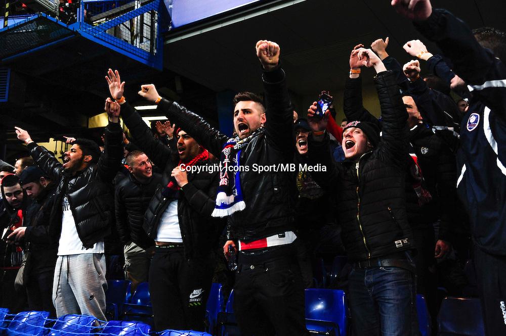 Supporters PSG - 11.03.2015 - Chelsea / Paris Saint Germain - 1/8Finale retour Champions League<br /> Photo : Dave Winter / Icon Sport