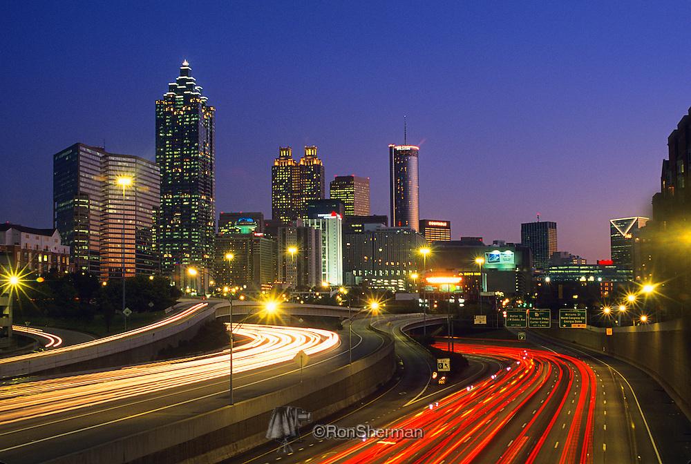 Evening Atlanta skyline