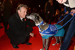 Actor ANTHONY HEAD and Bo the dog at the Collars & Coats Gala Ball in aid of Battersea Dogs & Cats Home held at Battersea Evolution, Battersea Park, London on 7th November 2013.