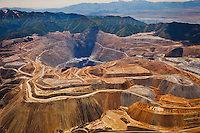 The Bingham Copper Open Pit Mine West of Salt Lake City