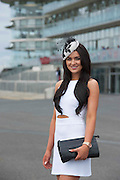 28/07/2014  Galway girl  Laura Fox at the first evening of the Galway Summer Racing Festival at Ballybrit in Galway City. Photo:Andrew Downes