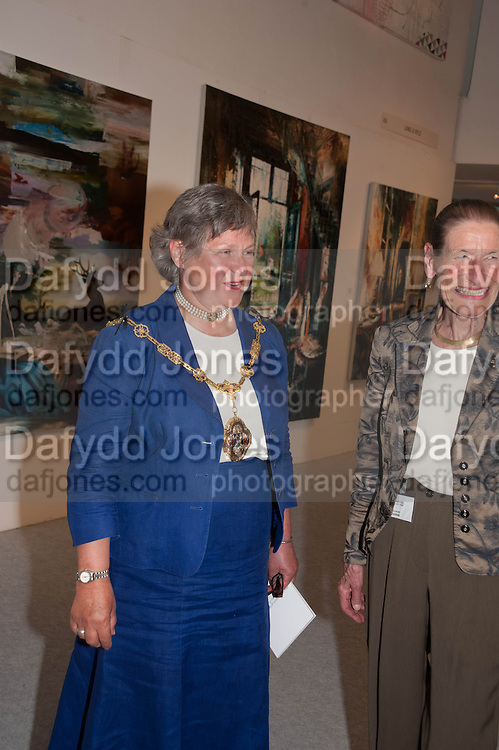 HONORY ALDERMAN FRANCES ELOIS; ANGELA WYNN, 20/21 British Art Fair. Celebrating its 25 Anniversary. The Royal College of Art . Kensington Gore. London. 12 September 2012.
