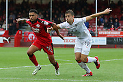 Crawley Town Midfielder Billy Clifford and Luton Town Midfielder Oliver Lee during the EFL Sky Bet League 2 match between Crawley Town and Luton Town at the Checkatrade.com Stadium, Crawley, England on 17 September 2016. Photo by Ellie Hoad.