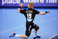 Christian Schone (19) of Germany during 21st Men's World Handball Championship preliminary Group C match between FYR Macedonia and Germany, on January 21, 2009, in Arena Varazdin, Varazdin, Croatia. (Photo by Vid Ponikvar / Sportida)