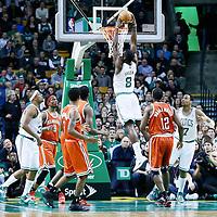 21 December 2012: Boston Celtics power forward Jeff Green (8) dunks the ball during the Milwaukee Bucks 99-94 overtime victory over the Boston Celtics at the TD Garden, Boston, Massachusetts, USA.