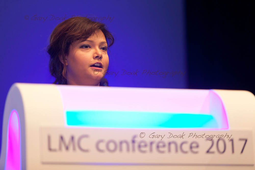 Uzma Haque<br /> BMA LMC's Conference<br /> EICC, Edinburgh<br /> <br /> 18th May 2017<br /> <br /> Picture by Gary Doak